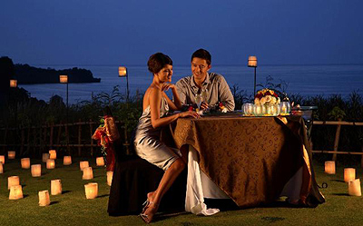 Candle Light Romantic Dinner